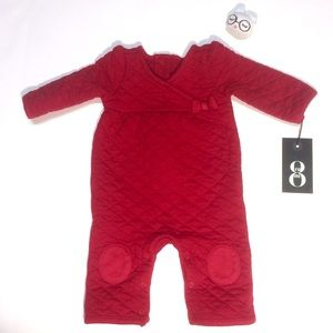 Gymboree Quilted Red Romper with Adorable Details